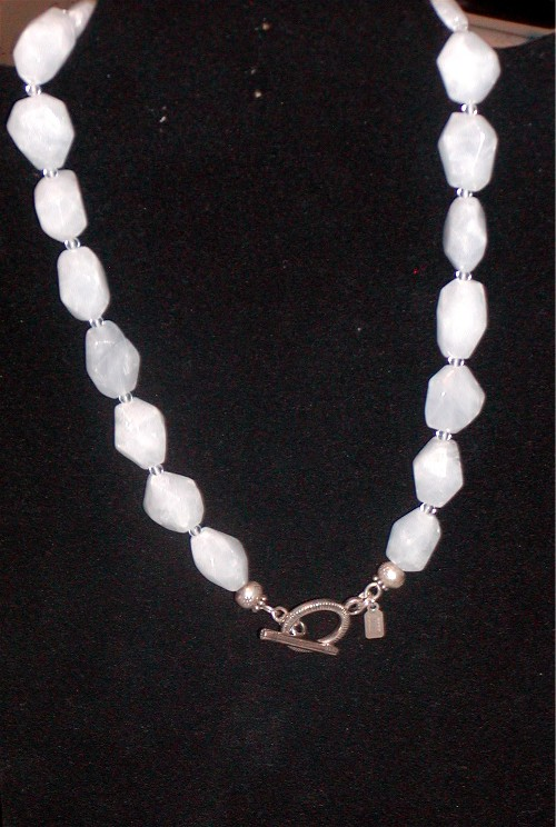 Genuine Chalcedony Necklace