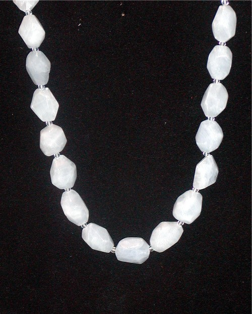Genuine Chalcedony String Necklace