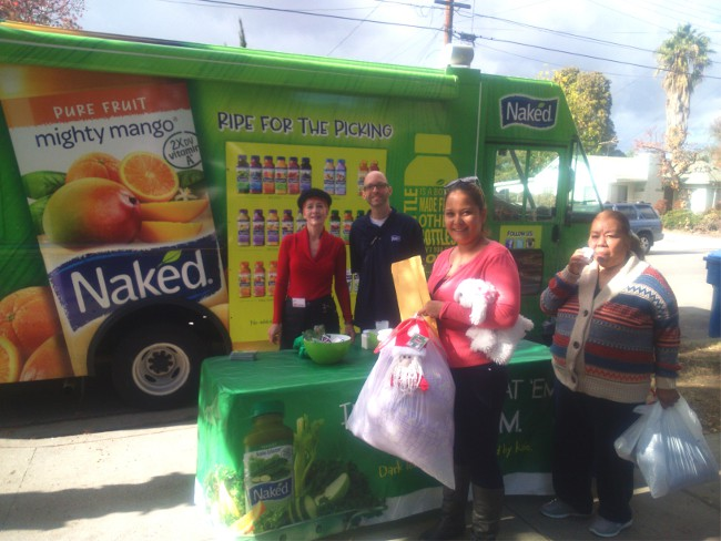 One Human Community And Naked Juice Spread Xmas Joy In SFV